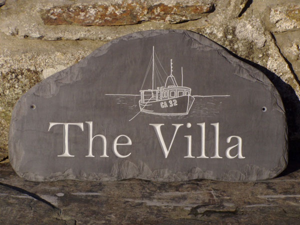Designers / Makers of high quality Welsh slate house name plates
