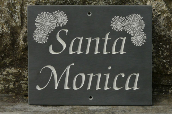 The slate workshop the slate workshop slate welsh for Images of name plate designs for home